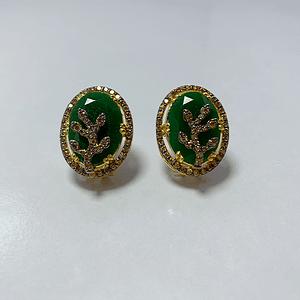 Jade tops with champagne zirconia