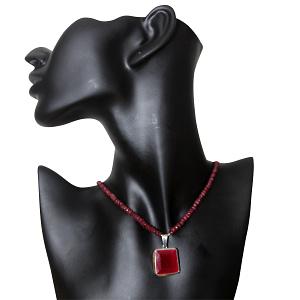 Chatham Ruby Locket  in Rubies String