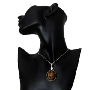 Tiger Eye Locket Necklace Without Chain