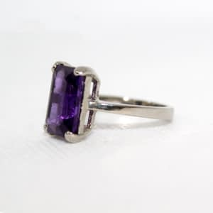 Synthetic Amethyst Ring