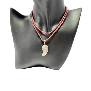 Agate with Garnet String