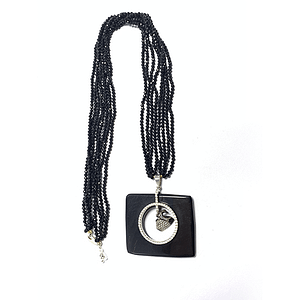 Black Agate with Onyx String