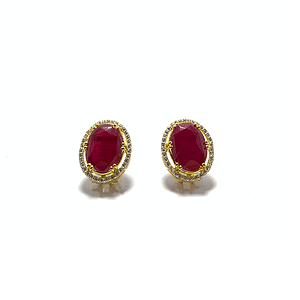 Synthetic red garnet tops with zirconia