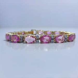 Pink Topaz Bracelet