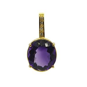 Purple Amethyst Locket