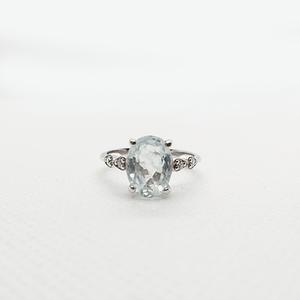 Aquamarine Tinkle Ring with Zirconia