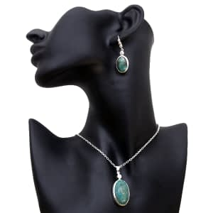 Turquoise Locket with Ear Drops