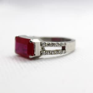Synthetic Rubies Ring