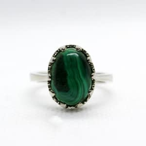 Elegant Malachite Ring