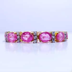 Synthetic Pink Topaz with Zirconia