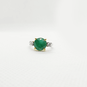 Emerald Ring with Zirconia