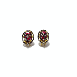 Synthetic red garnet with zirconia