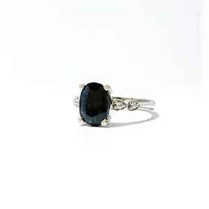 Black sapphire with zirconia