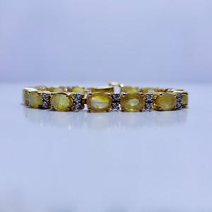 Yellow Sapphire Bracelet with Zirconia